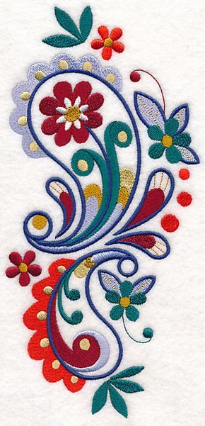 Paisley with Panache Spray design (M7073) from www.Emblibrary.com