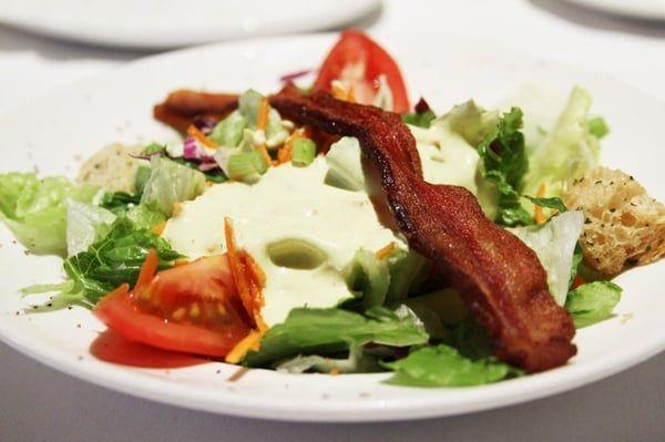 HOUSE SALAD  Del Frisco's Copycat Recipe   Serves 8   Avocado Dressing  2 large ripe avocados  1 cup sour cream  1 cup light cream  1 ta...