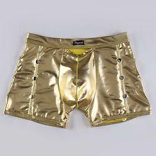 Weiche Herren Kunstleder Beutel Boxer Shorts Unterwäsche Unterhosen
