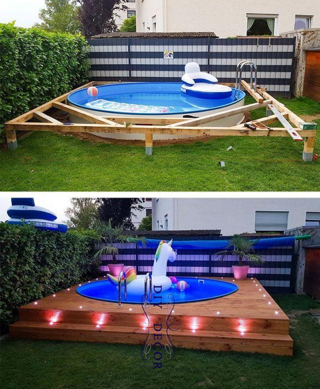 Mit diesen Spots können Sie Ihren Pool an die richtige Stelle bringen und entspannen – Hinterhof