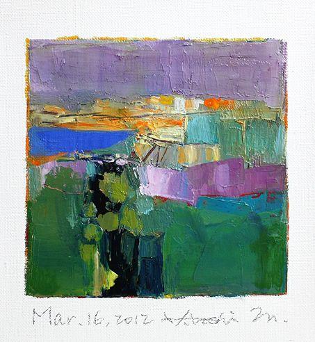 Hiroshi Matsumoto - Abstract Oil Painting & Cats