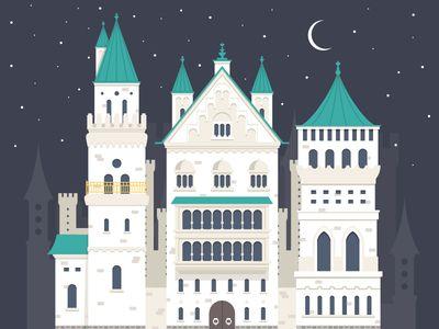 Dribbble - Castle by FireArt Studio