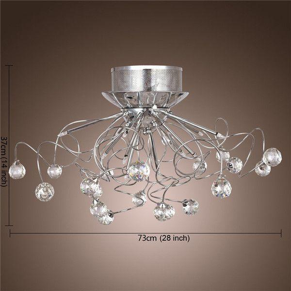 Moderne Kristall-LED Kronleuchter Leuchte Decke Beleuchtung Kristall-Kronleuchter Lampen Pendent Licht mit 11 G4 Leuchten
