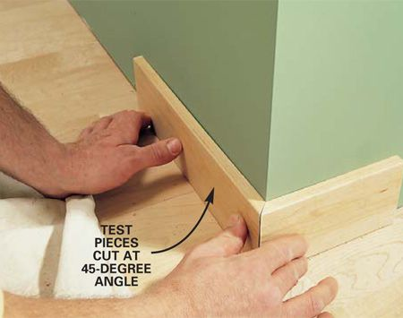 How to install baseboards, door & window trimDoors Trim, Diy Trim Work, Baseboards And Trim, The Family Handyman, Work Basic, Installations Baseboards, Interiors Trim, Windows Trim, Families Handyman