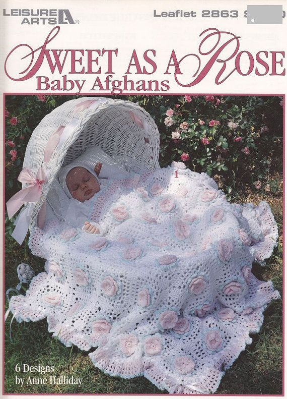 Baby Blanket Crochet Patterns - Sweet As a Rose Baby Afghan Crochet Patterns - 6 Beautiful Designs  - Granny Squares #Crochet