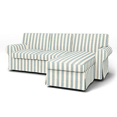 Ektorp Housse de canapé 2 places avec Méridienne - Housses de canapés | Bemz