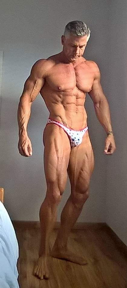 Mature shredded muscle hunk in thong | Muscle | Pinterest