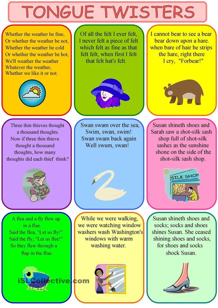 Tongue twisters on Pinterest | Alliteration, Worksheets and Student-centered Resources