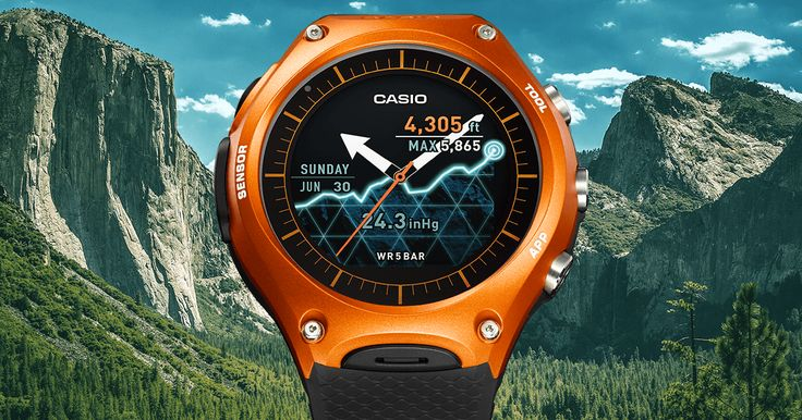 Casio's new Smart Watch: Smart and Active for Nature's Biggest Adventures. Smart Outdoor Watch with Android Wear.
