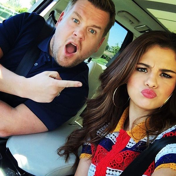 Selena Gomez on Capool Karaoke: Talks Dating and Covers Taylor Swift  The Late Late Show with James Corden, James Corden, Selena Gomez