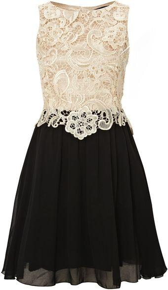 Little Mistress 2 in 1 Lace Top Dress - Lyst