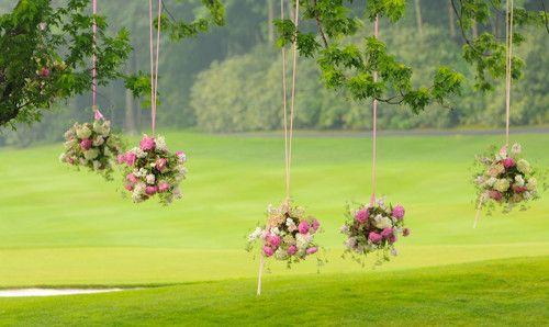 Decoración romántica para una boda en jardín  un jardin pour un mariage
