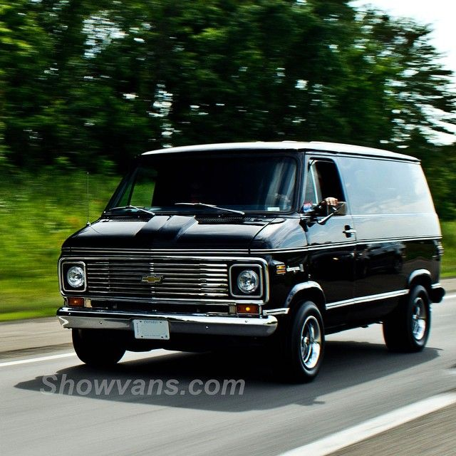 70's Custom Chevy Sharp dressed van.