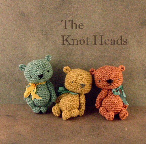 "I've been busy making-over some of my original miniature ted designs, such as these ""Knot Heads."" They are still small in stature and feature ample-sized heads. The overall design just needed a bit..."