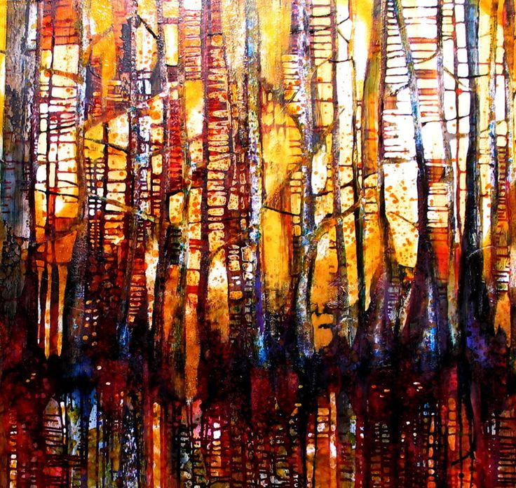 """Saatchi Online Artist: Caia Matheson; Oil, 2010, Painting """"Forest Fire"""""""