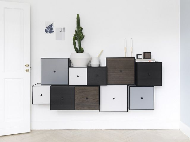 """The beautiful dark colour of the Frame boxes in smoked oak compliment the by Lassen universe extremely well. Oak is a well known material in the history of Scandinavian design and darker wooden colours have become particularly popular in recent years. Frame offers endless possibilities for individual styling, both in large and small settings,"" says Nadia Lassen @nadialassen, and Co-Owner of by Lassen. @frame_bylassen  #bylassen #bylassenframe #frame #storage #danishdesign…"
