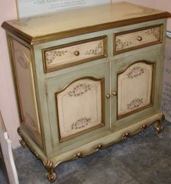 French Country Buffet With Pink Roses. Find This Pin And More On Hand  Painted Furniture ...