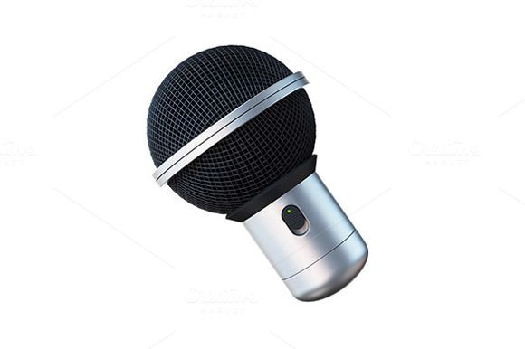 Microphone 3D Icon by vladut'shop on @creativemarket