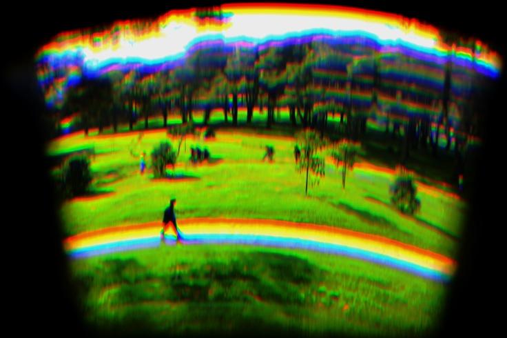 Fotografía hecha con un prisma.....
