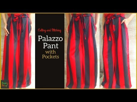 0dc6d31980e Palazzo with Pockets  sew  palazzo  Pants on Youtube