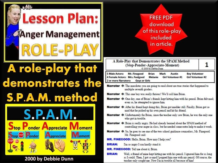 Anger Management Role-play - A role-play that demonstrates the SPAM method