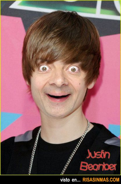 Justin Bieber + Mr. Bean = Justin Beanber. Oh my gosh I think I'm scarred for life...