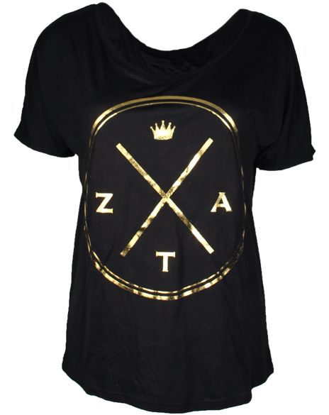 Zeta Tau Alpha Crown Tee by Adam Block Design | Custom Greek Apparel & Sorority Clothes | www.adamblockdesign.com