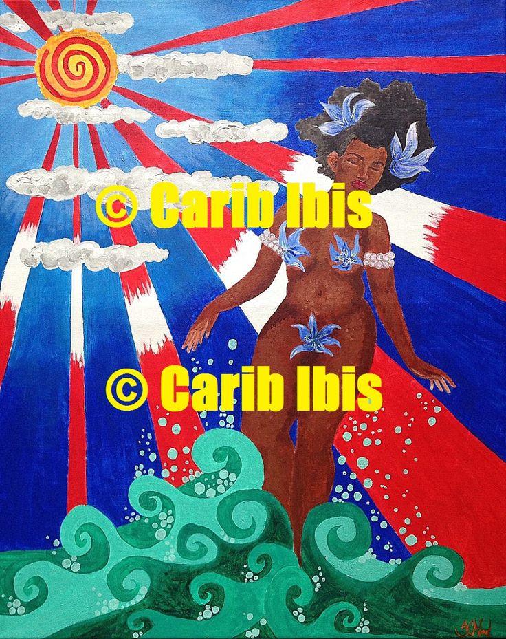 Black Girl Magic Art Orisha melanin Mami Wata Yemaya Trinidad Caribbean decor black woman art afrocentric art African American art print by CaribIbis on Etsy https://www.etsy.com/listing/224535742/black-girl-magic-art-orisha-melanin-mami