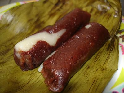 Suman Moron (Sweet Choco Filled Rice Cake) Recipe ...