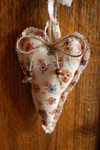 Fabric Heart Door Hanger