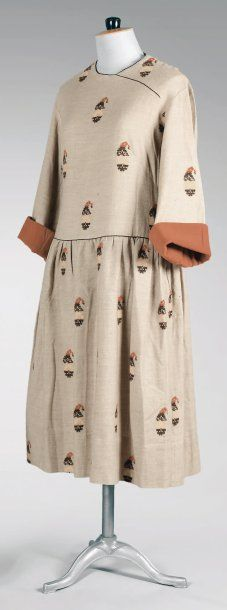 Paul Poiret, circa 1920 wool day dress, from the collection of Denise Poiret