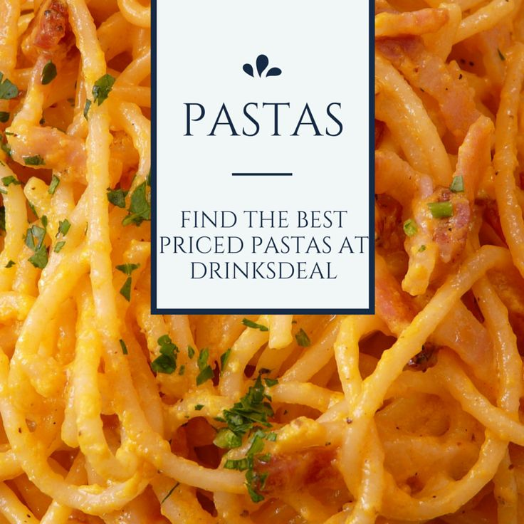 Looking for Pasta? Drinksdeal got some recommendations for you!
