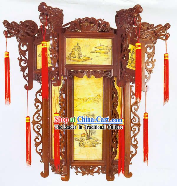 Chinese Handmade Dragon Wood Palace Lantern Hanging Lanterns Lanterns Chinese Lanterns