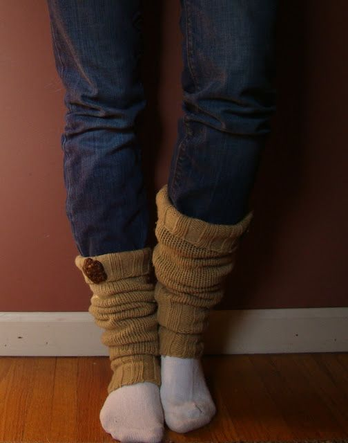 looks very easy -- Fireflies and Jellybeans: How to Make Leg Warmers From an Old Sweater