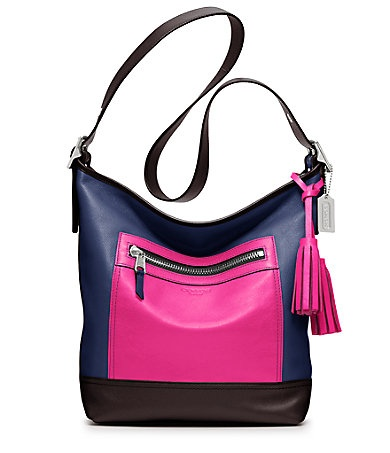COACH LEGACY COLORBLOCK LEATHER DUFFLE #belk #accessories