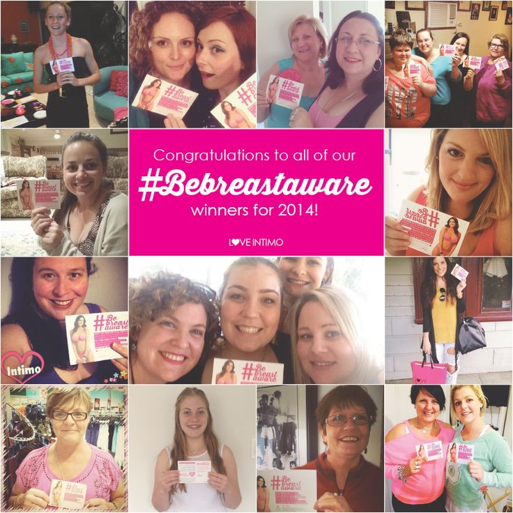 Congratulations to all of our fabulous #Bebreastaware winners for 2014! A big thank you to all of the women who entered and did their Check, Share & Be Breast Aware breast check. Never forget that early detection is the best weapon in the fight against Breast Cancer!