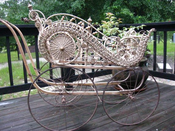 Antique / Vintage Gendron Heywood  Wakefield Style  Wicker Baby Carriage- incredible item