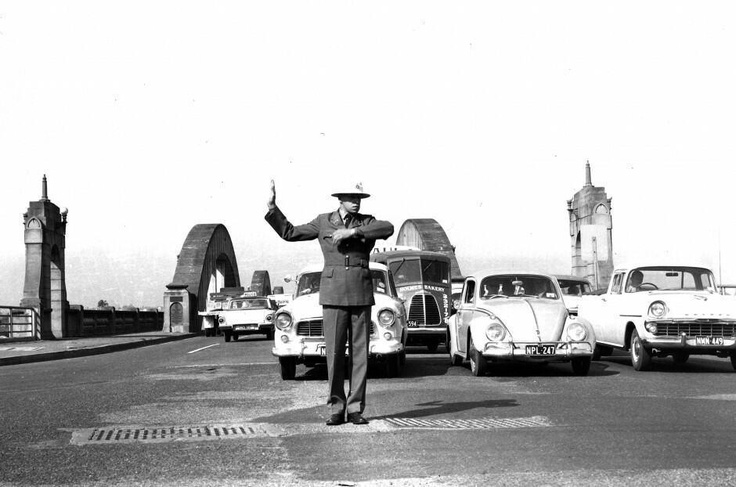 Traffic constable on point duty