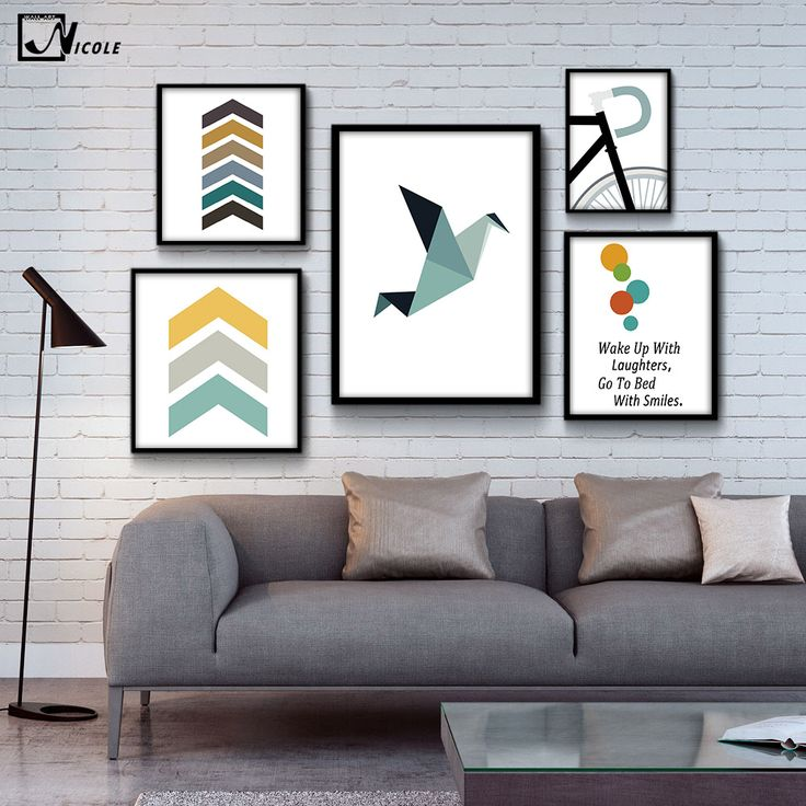 Geometry Bird Arrow Art Canvas Poster Minimalist Painting Abstract Wall Picture for Modern Home Children Room Decor CX128-in Painting & Calligraphy from Home & Garden on Aliexpress.com | Alibaba Group