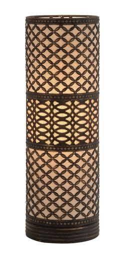 Elegant Modish Styled Metal Cylinder Table Lamp