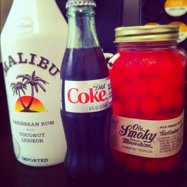 A delicious combo. Try the Ole Smoky Moonshine Cherries! food-i-crave