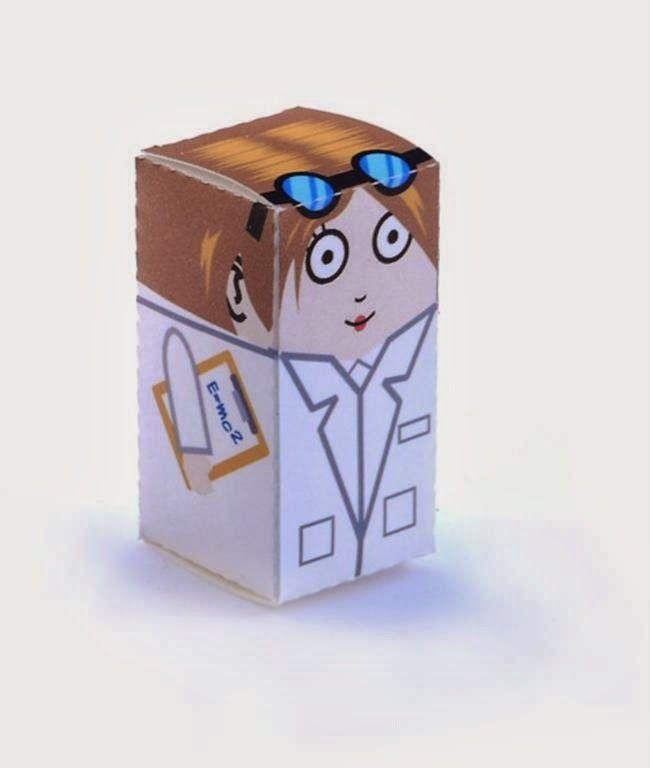 kerajinan gunting/tempel anak TK/SD, membuat sendiri kotak souvenir permen, ilmuwan wanita