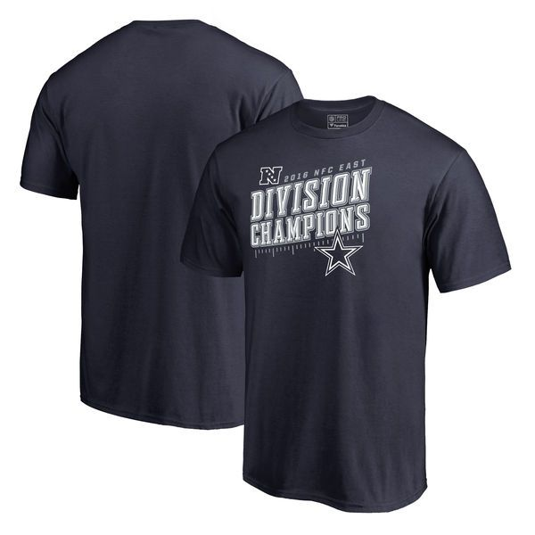 Dallas Cowboys NFL Pro Line by Fanatics Branded 2016 NFC East Division Champions Inches T-Shirt - Navy - $20.99