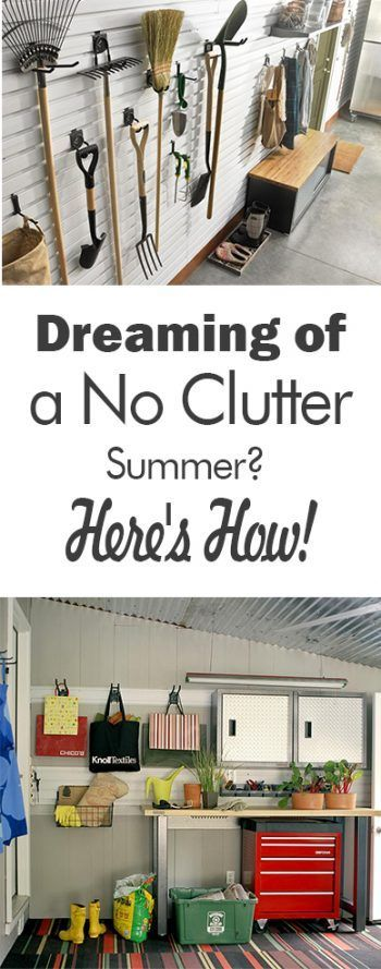 Dreaming of a No Clutter Summer? Here's How! - 101 Days of Organization| Yard Organization, How to Organize Your Yard, Tips and Tricks, How to Organize Your Yard Tools, Garden Shed Organization, How to Declutter Your Garage, Garage Organization, Organized