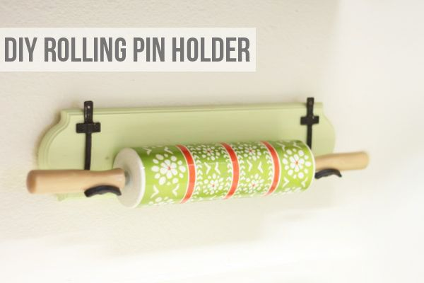 This would be gorgeous for my marble rolling pin!  Lemon Jitters: DIY: Rolling Pin Holder