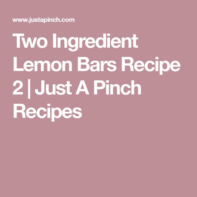 Two Ingredient Lemon Bars Recipe 2 | Just A Pinch Recipes