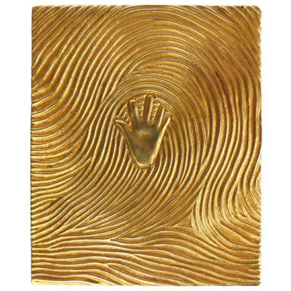 "LINE VAUTRIN - ""Handprint"", gilded bronze box"