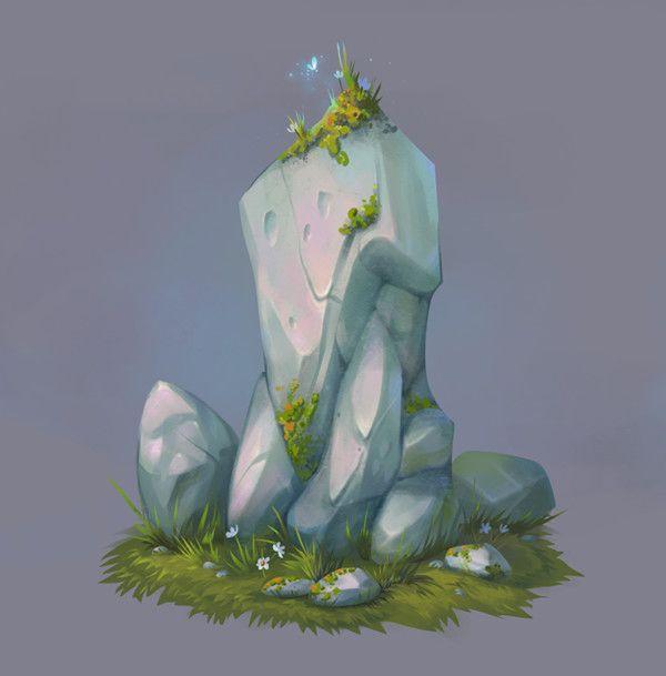 Rocks, Josephine Sun on ArtStation at https://www.artstation.com/artwork/NaPrN