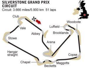 Silverstone circuit diagram