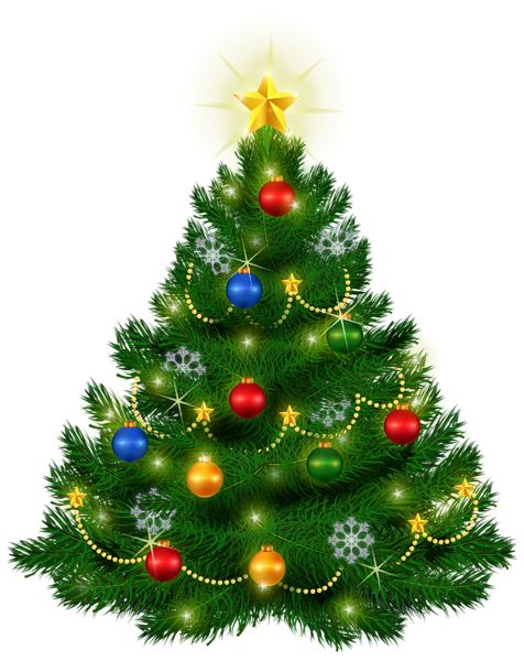 Beautiful Christmas Tree PNG Clipart Image